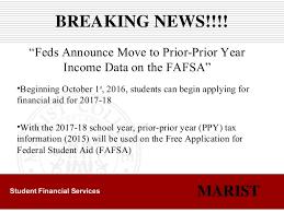 marist financial aid