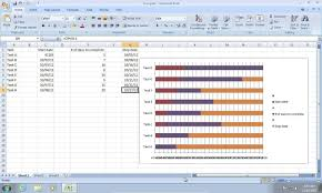 free gantt chart template for excel 2007 ondy spreadsheet
