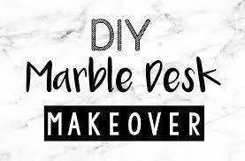 marble desk diy quick u0026 easy desk makeover youtube