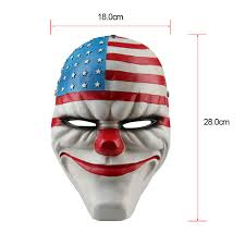 payday 2 dallas wolf chains clover mask halloween cosplay prop 4