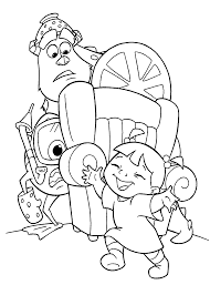 monsters inc coloring pages boo perfect astonishing monsters university coloring pages with monster