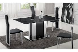 table de cuisine en verre trempé table a manger en verre noir table cuisine en bois somum