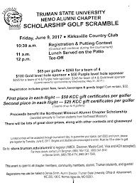 truman state golf scramble kirksville country club