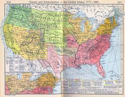 United States Maps by Of The United States 1777 1865 Slavery And Emancipation