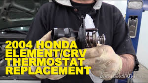 2004 honda element crv thermostat replacement youtube