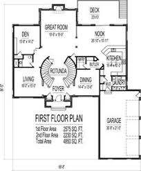 5 Bedroom Floor Plans With Basement Colonial Home Plans Circular Stair 5000 Sf 2 Story 4 Br 5 Bath 4