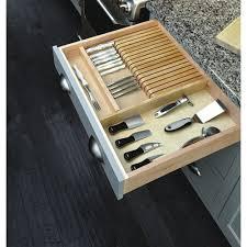Best Kitchen Knives Block Set by Cabinets U0026 Storages Divider Knife Block In Grey Kitchen Drawer