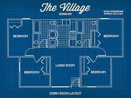 Casa Bella Floor Plan Utrgv The Village Apartments