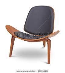 armchair modern white color armchair modern designer chair stock photo 582284902
