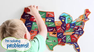 us map puzzle magnetic u s map puzzle