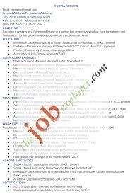 Objective In Resume For Nurses Sample Resume For Nurses Resume Samples And Resume Help