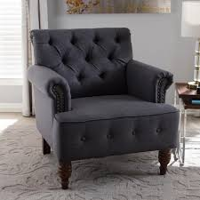 modern furniture kitchener simpli home kitchener grey velour tufted accent chair axckits73o5g