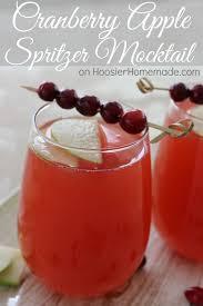 cranberry apple spritzer mocktail easy 3 ingredient drink for