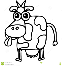 cow kids coloring page stock illustration image 78714723