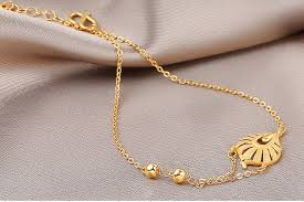 lucky leaf bracelet images Pure solid 24k yellow gold chain women 39 s lucky leaf chain bracelet jpg