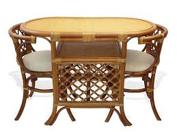 dining room dining set table and 2 chairs brown handmade natural