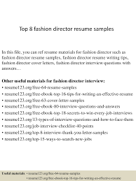Sample Executive Director Resume by Top8fashiondirectorresumesamples 150406202013 Conversion Gate01 Thumbnail 4 Jpg Cb U003d1428369658