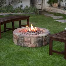Patio With Firepit Red Ember 36 In Clarksville Campfire Fire Pit With Free Cover