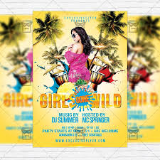 girls gone wild u2013 free club and party flyer psd template