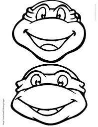 teenage mutant ninja turtles faces coloring pages