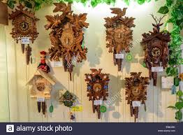 going cuckoo clock shop polperro cornwall uk stock photo royalty