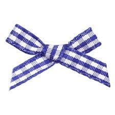 blue gingham ribbon royal gingham ribbon bows 7mm wide