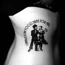 beautiful ballroom dancers tattoo on ribs tattoomagz