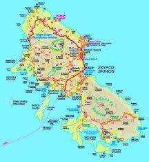 Map Of Greece Islands by Skyros Maps Greece Maps Of Skyros Island