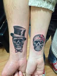 matching skull tattoos 40 stunning couples wrist