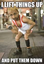 Meme Midget - midget bodybuilder i lift things up and put them down memes