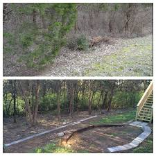 help with sloped backyard being changed from the inside out
