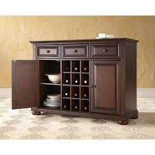 kitchen sideboard cabinet crosley alexandria mahogany buffet kf42001ama the home depot