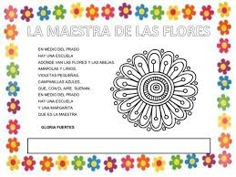 imagenes con flores azules dia de la maestra la clase de mar proyecto gloria fuertes