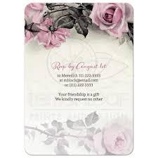 Chinese Birthday Invitation Cards 80th Birthday Invitation Vintage Pink Grey Rose