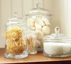 bathroom apothecary jar ideas pb glass canister medium baths bathroom