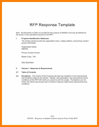 rfp cover letter template rfp cover letter templates rfq cover letter sle rfp response