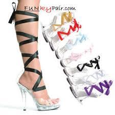 ribbon heels m 5 inch stiletto high heel sandal w interchangeable ribbon