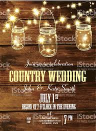 country wedding invitations country wedding invitation design template jar and string lights