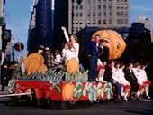 1944 45 on pumpkin float thru nyc in macy s stock