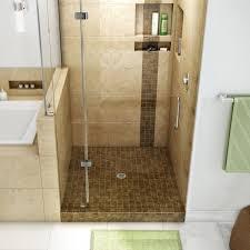 Tile Shower Door by Bathroom Dark Brown Tile Wall Design With Glass Shower Doors Plus