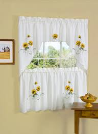 interior sunflower kitchen curtains grey and white living room