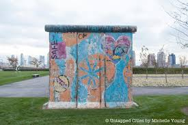 berlin wall sections mapping the 5 pieces of the berlin wall in nyc untapped cities