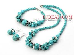 turquoise necklace sets images Popular turquoise necklace bracelet earrings jewelry set jpg
