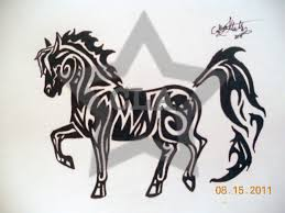 tribal horse n sea horse tattoo design photos pictures and