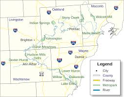 Metro Detroit Map by File Map Us Mi Huron Clinton Metroparks Svg Wikimedia Commons