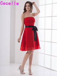 Red And Black Party Dresses Compare Prices On Black And Red Bridesmaid Dress Online Shopping