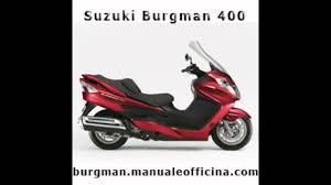 suzuki burgman manuale officina in italiano youtube