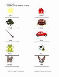 kindergarten rhyming words worksheet education com