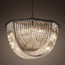 Vintage Crystal Chandeliers Modern Vintage Crystal Chandelier Lighting Rh Pendant Hanging
