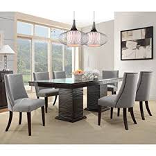 Dining Room Chairs Chicago Amazon Com Homelegance Chicago 7 Piece Pedestal Dining Room Set
